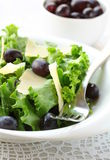 Salad with grapes and cheese Stock Photos