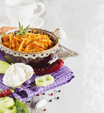 Salad of grated carrots Royalty Free Stock Images