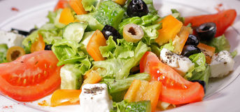 Salad Greek Stock Photo