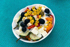 Salad, greek Style, mediterranean Style, with Cheese Stock Images