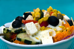 Salad, greek Style, mediterranean Style, with Cheese Royalty Free Stock Photos