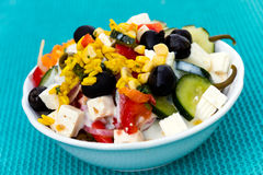 Salad, greek Style, mediterranean Style, with Cheese Stock Photos
