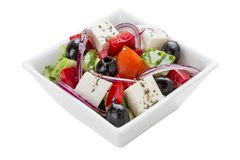 Salad `Greek` stock photography