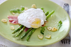 Salad with green asparagus Stock Photography