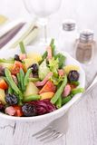 Salad with green bean Stock Images