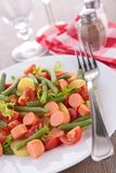 Salad with green bean Stock Image