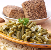 Salad of green beans Royalty Free Stock Photo