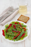 Salad with green beans Stock Photo