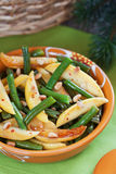 Salad with green beans Stock Image