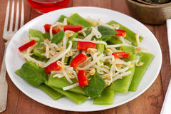 Salad with green beans Stock Images