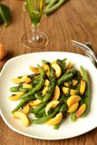 Salad of green beans and apricot Stock Photos