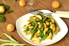 Salad of green beans and apricot Royalty Free Stock Photography