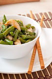 Salad of green beans with chicken Stock Photo