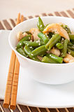 Salad of green beans with chicken Royalty Free Stock Image