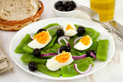 Salad with green beans, egg Stock Image
