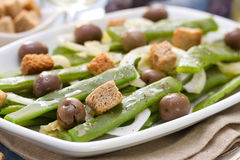 Salad green beans with olives Stock Images