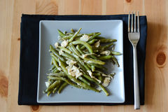 Salad with green beans Royalty Free Stock Photography