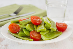 Salad green beans and tomato Royalty Free Stock Photo