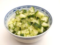Salad of green cucumber Royalty Free Stock Photography