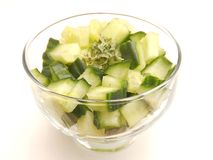 Salad of green cucumber Royalty Free Stock Photo