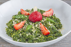 Salad of green kale Stock Photography