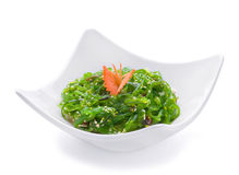 Salad with green sea grass Royalty Free Stock Photo
