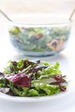Salad Greens with Glass Bowl in Background Stock Photo
