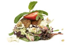 Salad of greens and meat Royalty Free Stock Image