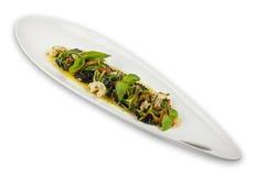 Salad greens and shrimp Royalty Free Stock Photography