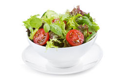 Salad with greens and vegetables Royalty Free Stock Images