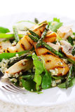 Salad with grilled asparagu, pear and cheese Stock Photography