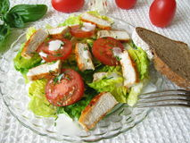 Salad with grilled chicken Stock Photo