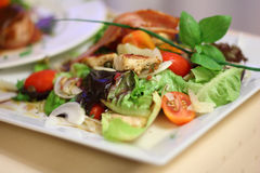 Salad with grilled chicken Royalty Free Stock Photo