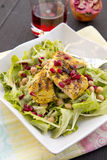 Salad with grilled chicken, chickpeas and pomegranate Royalty Free Stock Photo