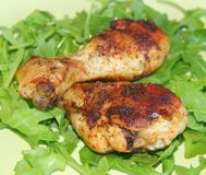 Salad with grilled chicken Stock Image