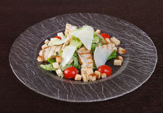 Salad with grilled chicken meat Stock Photo