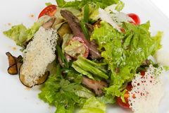 Salad of grilled filet of lamb. Stock Image