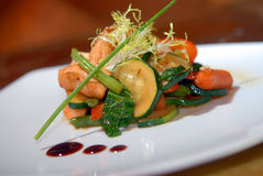 Salad of grilled vegetables Royalty Free Stock Photography