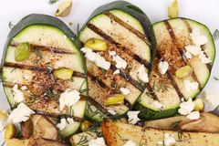 Salad with grilled vegetables and tofu Royalty Free Stock Images