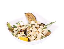Salad with grilled vegetables and tofu. Royalty Free Stock Photo