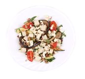 Salad with grilled vegetables and tofu. Royalty Free Stock Photos