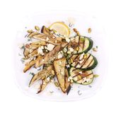 Salad with grilled vegetables and tofu. Royalty Free Stock Image