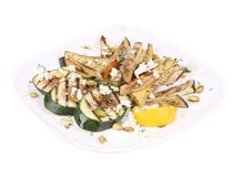 Salad with grilled vegetables and tofu. Stock Photography