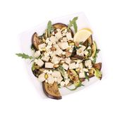Salad with grilled vegetables and tofu. Royalty Free Stock Photography