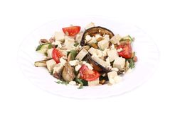 Salad with grilled vegetables and tofu Royalty Free Stock Photo