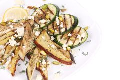 Salad with grilled vegetables and tofu Royalty Free Stock Photography