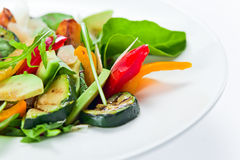 Salad with grilled zucchini marrow Stock Photography