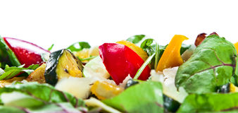 Salad with grilled zucchini marrow Royalty Free Stock Images