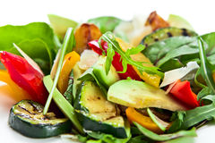 Salad with grilled zucchini marrow Stock Image