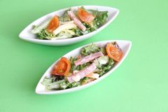 Salad with ham and cheese Royalty Free Stock Photos